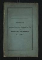 Prospectus of the Missouri Iron Company And Missouri And Iron Mountain Cities