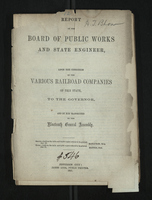 Report of the Board of Public Works And State Engineer
