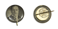 William H. Taft Black 1 Button