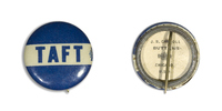 Taft on Blue Button