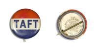 Red, White, and Blue Taft Button