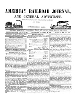 American Railroad Journal October 30, 1847
