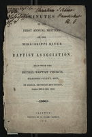 Minutes of the First Annual Meeting of the Mississippi River Baptist Association