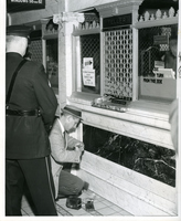 Detective Checks For Fingerprints At Mercantile Trust Company