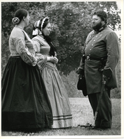 Jefferson Barracks - Reenactors, Soldier and Two Women
