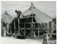 Jefferson Barracks - Constructing Frames for Tents