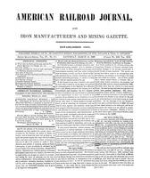 American Railroad Journal March 11, 1848