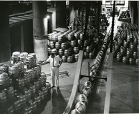 Anheuser-Busch Brewery - Beer Stacked for Shipment