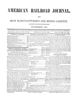 American Railroad Journal May 27, 1848
