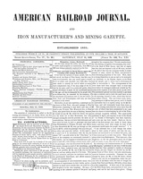 American Railroad Journal July 15, 1848