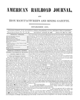 American Railroad Journal August 19, 1848
