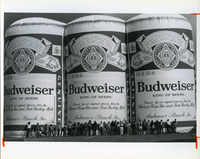 Replica of A Six-pack Of Budweiser Beer