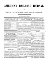 American Railroad Journal August 26, 1848
