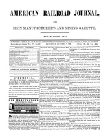 American Railroad Journal October 7, 1848