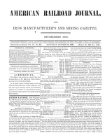 American Railroad Journal October 14, 1848