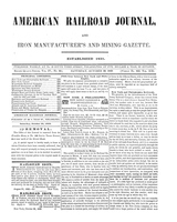 American Railroad Journal October 28, 1848