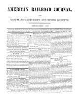 American Railroad Journal November 4, 1848