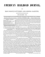 American Railroad Journal November 18, 1848