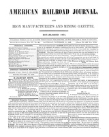 American Railroad Journal November 11, 1848