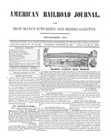 American Railroad Journal November 25, 1848