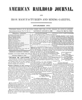 American Railroad Journal January 6, 1849