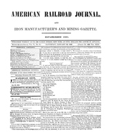 American Railroad Journal January 20, 1849