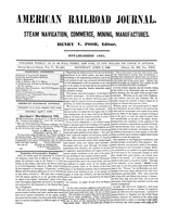 American Railroad Journal April 7, 1849