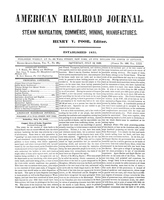 American Railroad Journal July 14, 1849