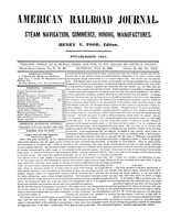 American Railroad Journal July 21, 1849