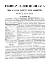 American Railroad Journal September 1, 1849