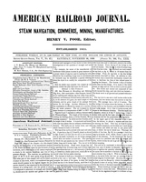 American Railroad Journal November 24, 1849