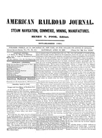 American Railroad Journal April 13, 1850