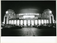 Outside View of the Illuminated Checkerdome