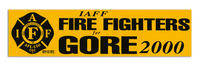 IAFF Fire Fighter for Gore Bumper Sticker