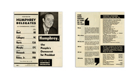 Humphrey, The People's Democrat for President Brochure
