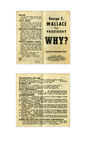 George C. Wallace for President Why? Pledge Sheet