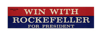 Win With Rockefeller For President Bumper Sticker