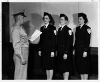 Three Female Guards Militarized by Capt. R. A. Jackson