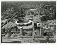 Aerial Picture of Busch Memorial Stadium and Old Courthouse