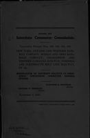 Valuation docket nos. 192, 149, 164, 180 : New York, Ontario and Western Railway Company, Mobile and Ohio Railroad Company...