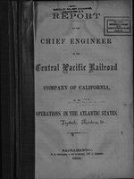 Report of the chief engineer of the Central Pacific Railroad Company of California on his operations in the Atlantic states.