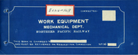 Northern Pacific Railway Equipment - diagrams of work equipment.