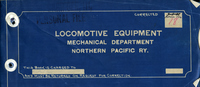 Northern Pacific Railway Equipment - diagrams of locomotives