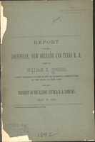Report on the Louisville, New Orleans and Texas R. R.