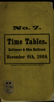 Time book for the running of the trains on the main stem of the Baltimore and Ohio Rail Road
