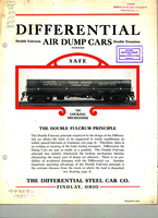Differential Patented Air Dump Cars with Axless Trucks