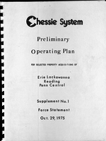 Chessie System Preliminary Operating Plan Supplement No. 1