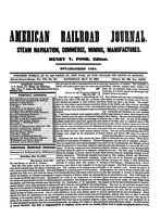 American Railroad Journal May 10, 1851