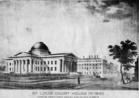 St. Louis Court House in 1840