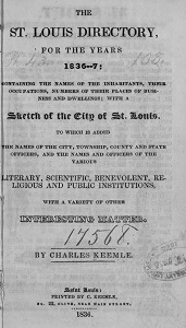 The St. Louis Directory, for the Years 1836-7